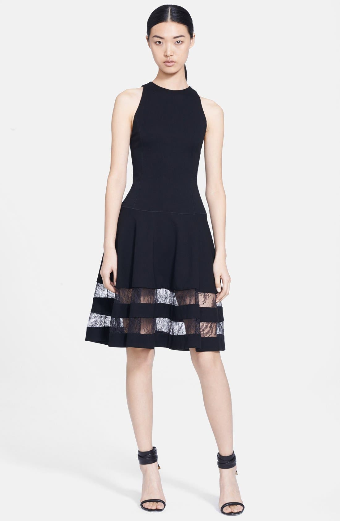 Alternate Image 1 Selected - Jason Wu Lace Inset Ponte Dress