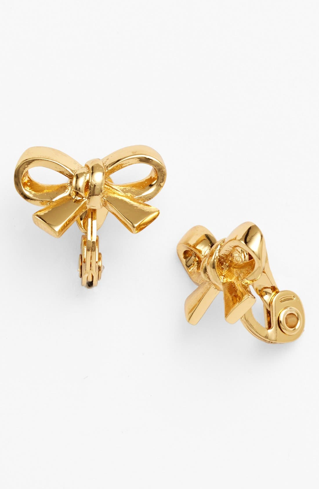Main Image - kate spade new york 'finishing touch' bow clip earrings