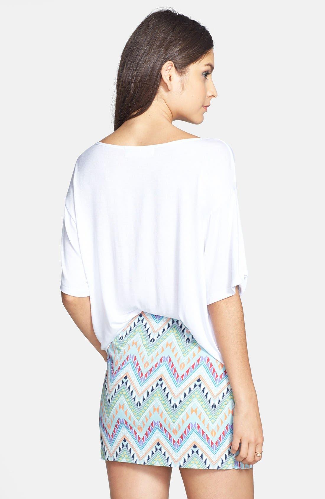 Alternate Image 2  - Lush Print Miniskirt (Juniors) (Online Only)