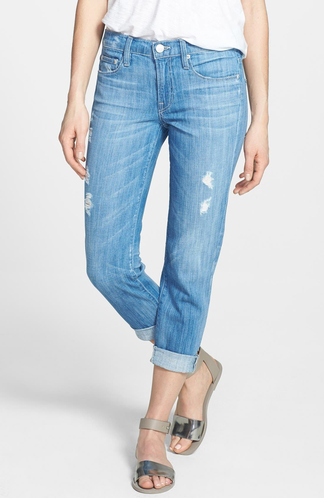 Main Image - Vince 'Mason' Relaxed Rolled Jeans