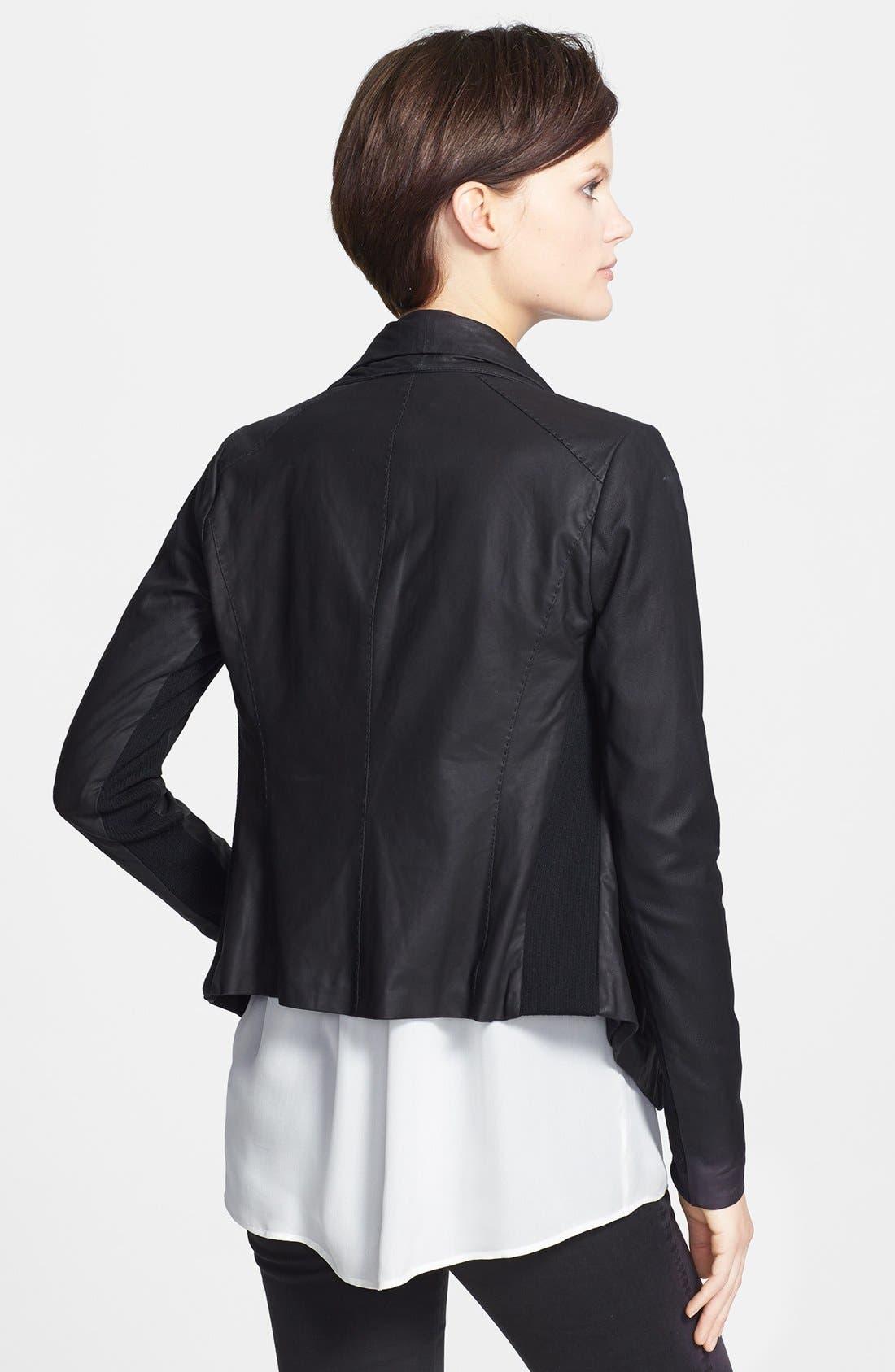 Alternate Image 2  - Vince Leather Scuba Jacket