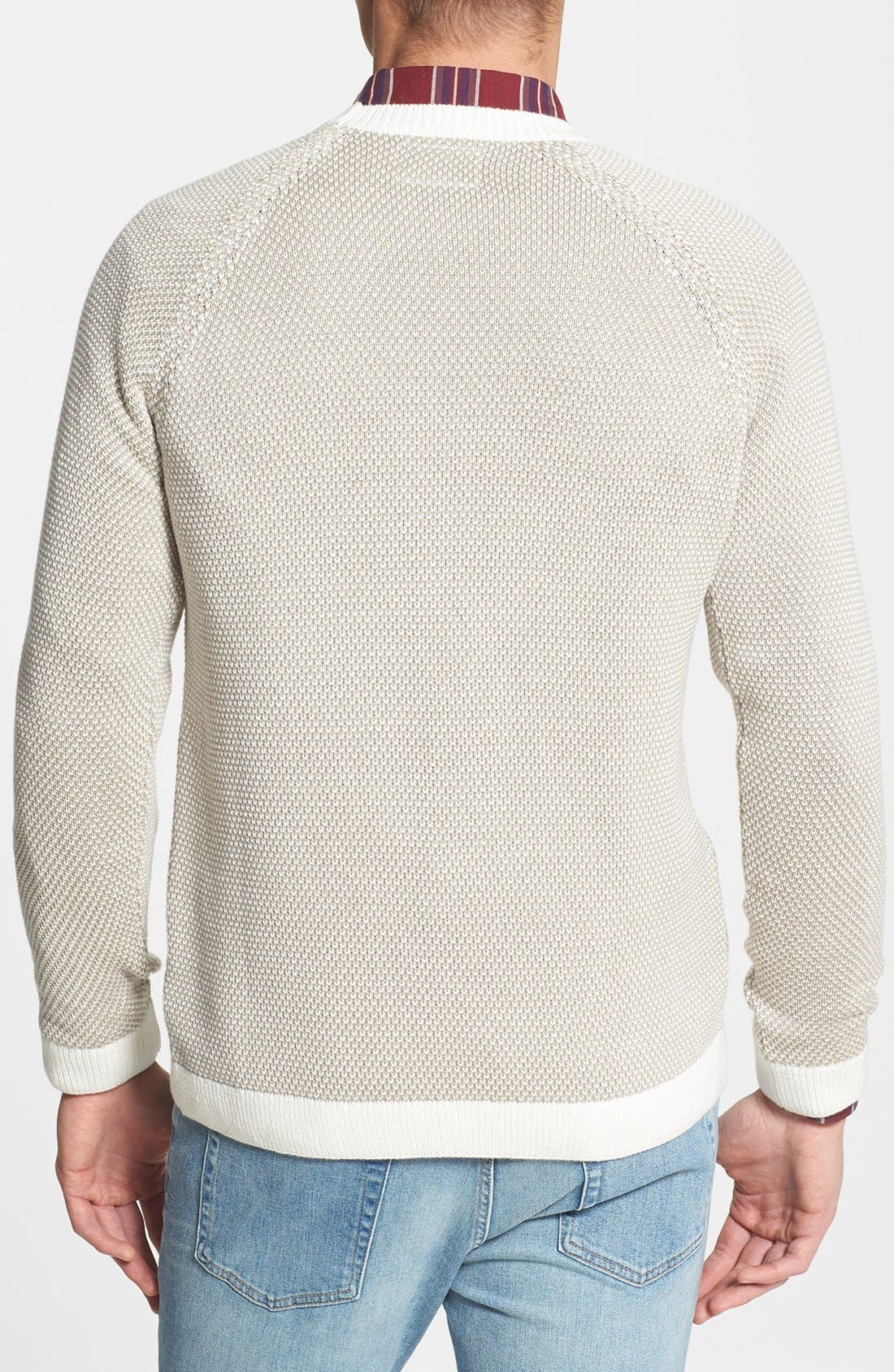 Alternate Image 2  - Topman Reverse Knit Crewneck Sweater