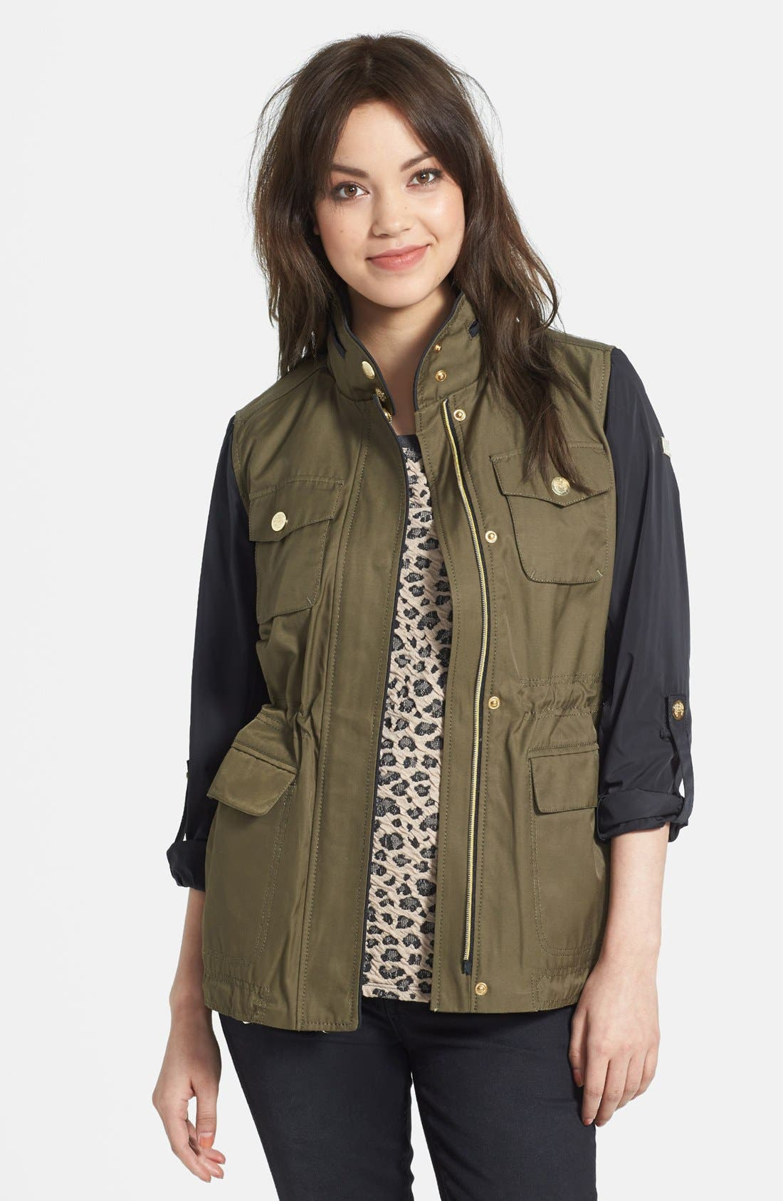 Alternate Image 1 Selected - Vince Camuto Two-Tone Anorak