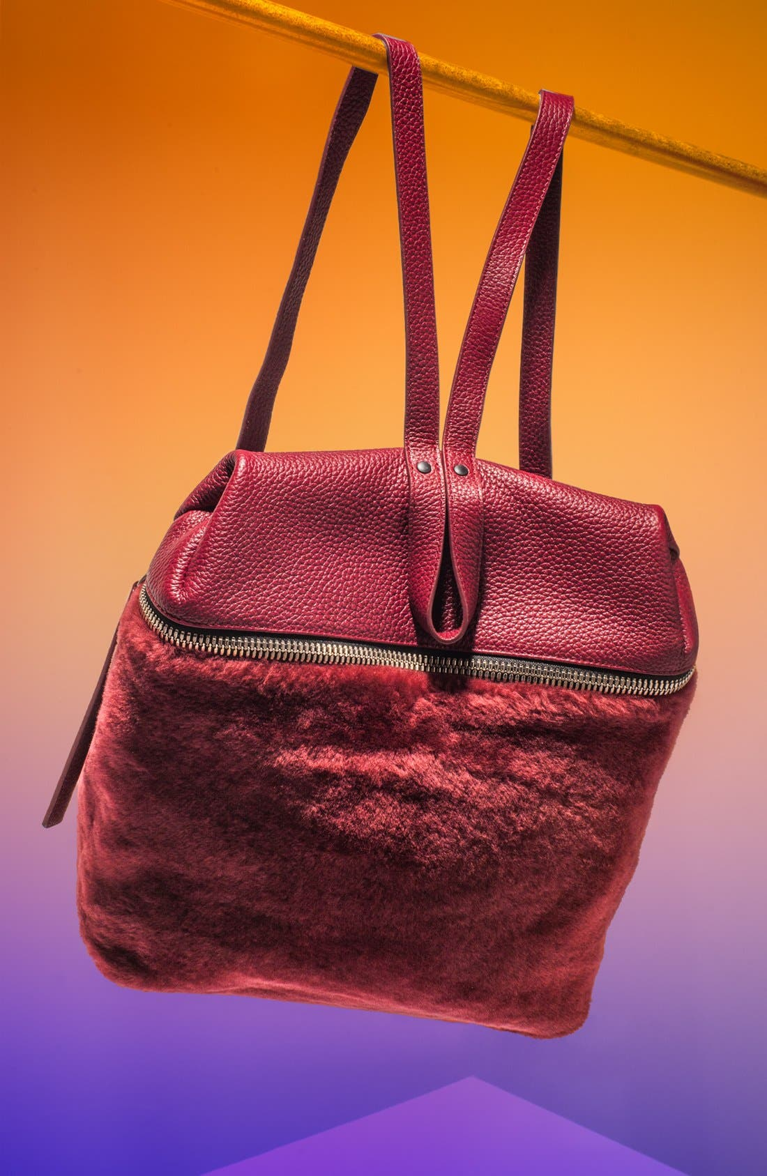 Main Image - Kara Genuine Shearling Backpack, Medium