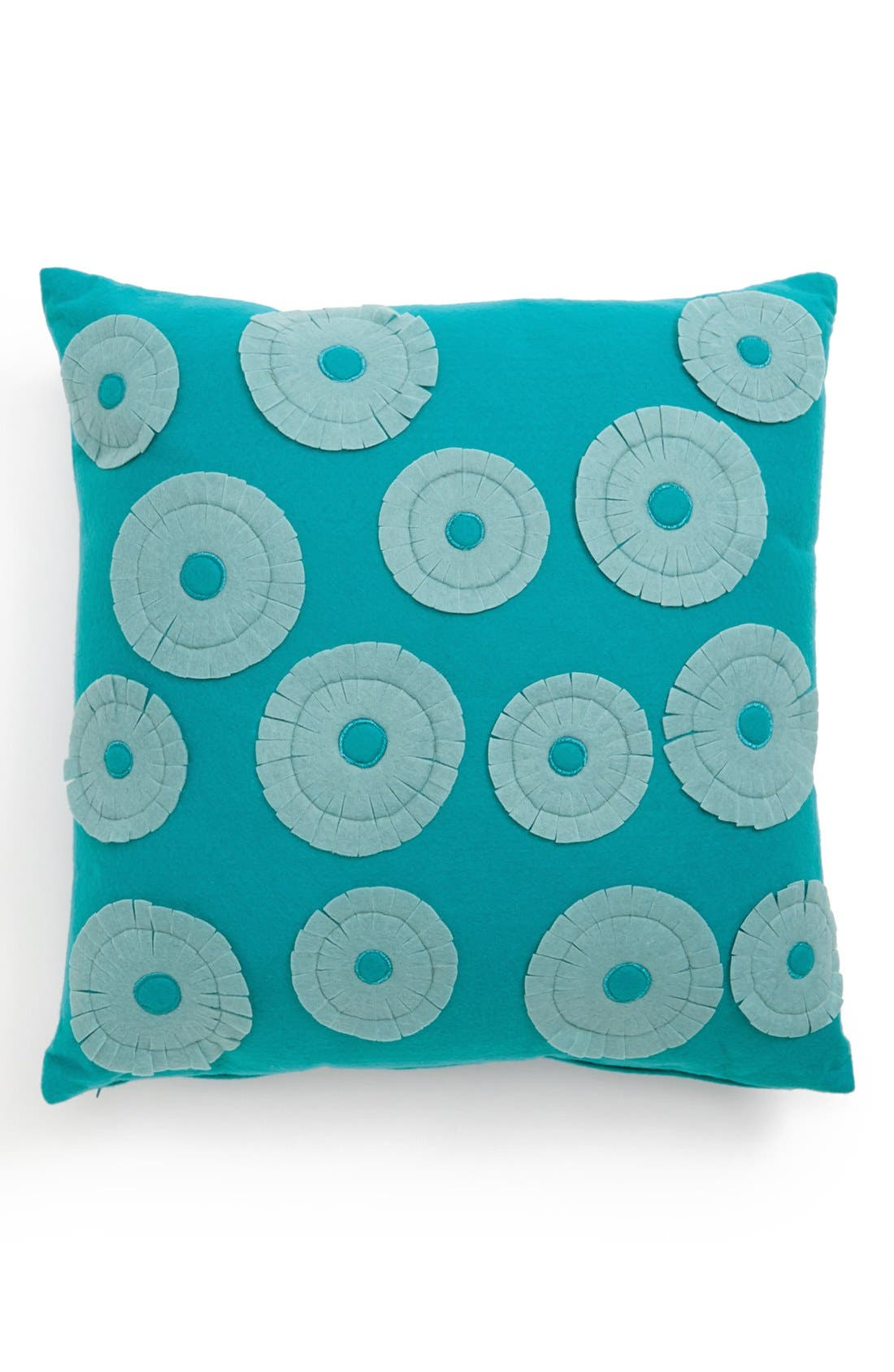 Alternate Image 1 Selected - Mina Victory Floral Appliqué Pillow