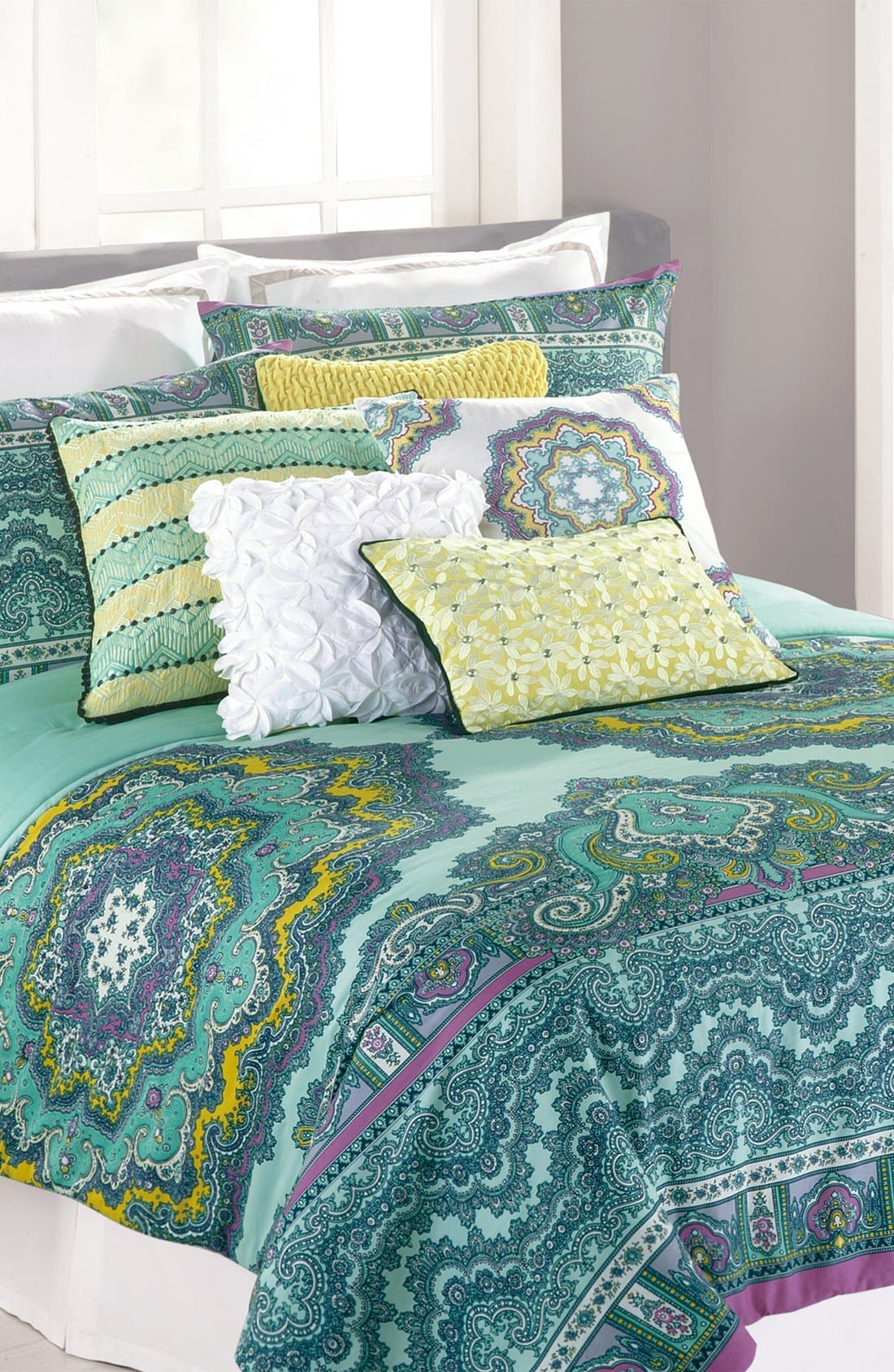 Alternate Image 1 Selected - Nanette Lepore Villa 'Paisley Medallion' Cotton Comforter Set