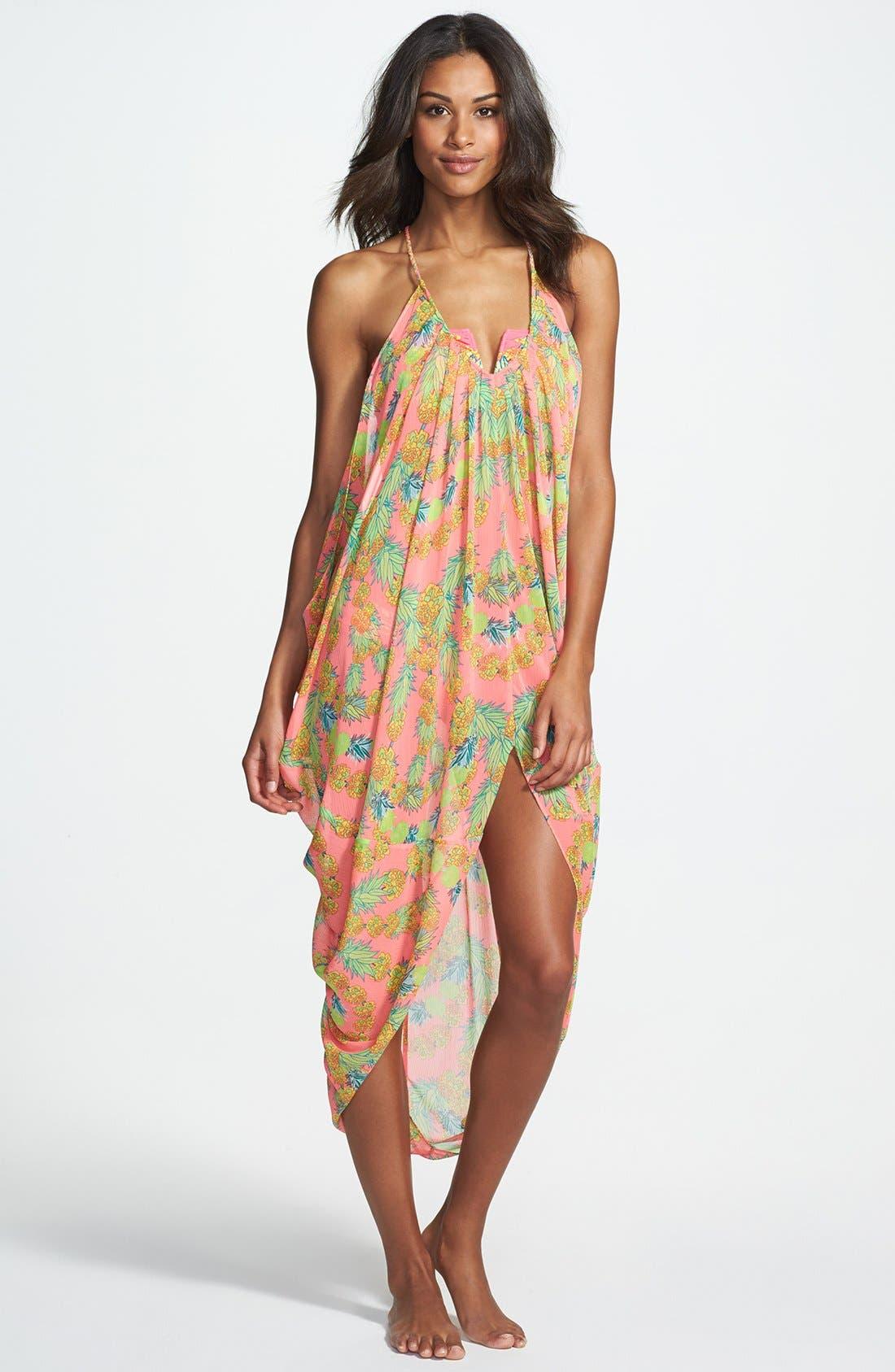 Alternate Image 1 Selected - Mara Hoffman 'Garlands' Chiffon Cover-Up Drape Dress