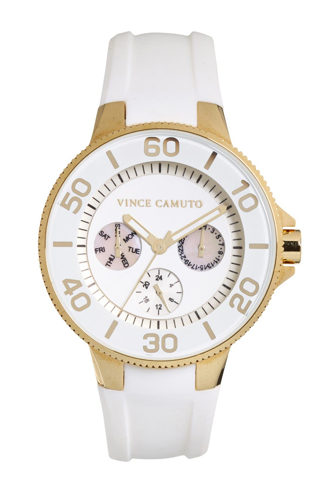 Alternate Image 1 Selected - Vince Camuto Silicone Strap Watch, 38mm
