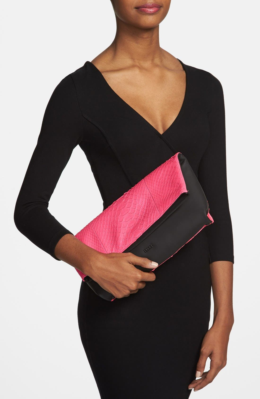 Alternate Image 2  - Emilio Pucci Snakeskin Clutch