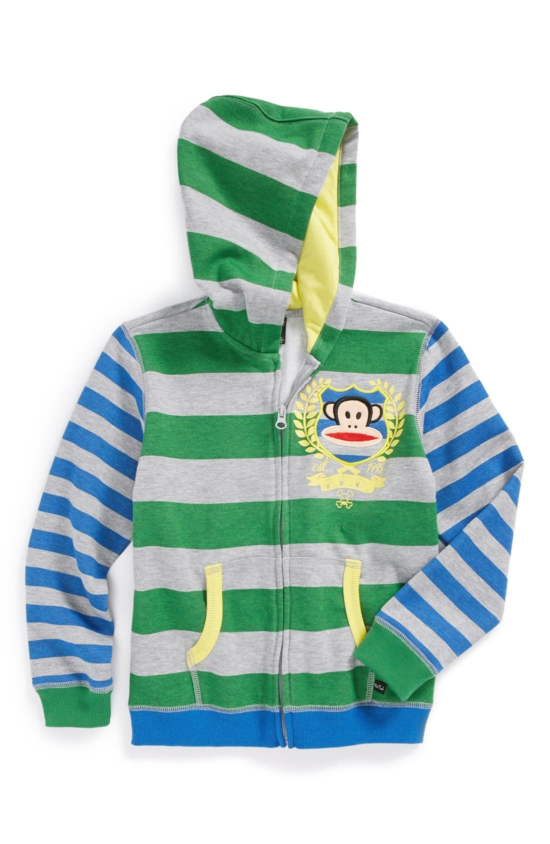 Alternate Image 1 Selected - Paul Frank 'Baseball' Hoodie (Little Boys)