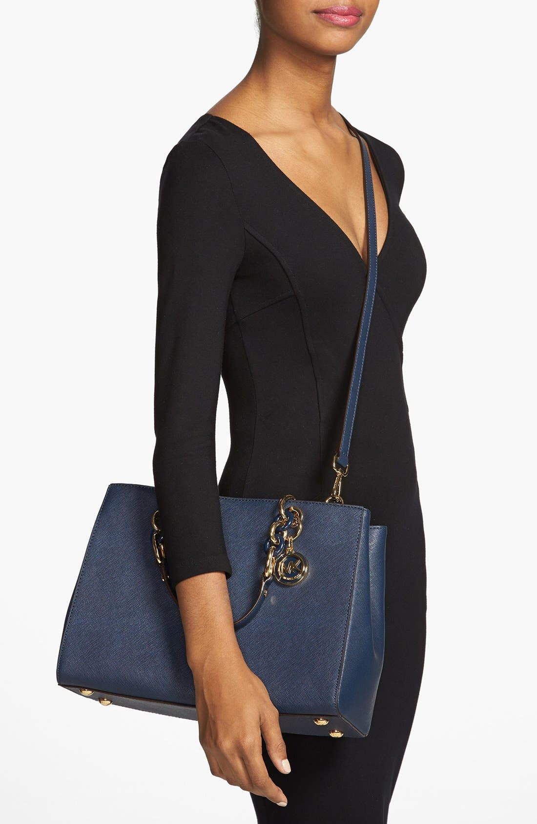 Alternate Image 2  - MICHAEL Michael Kors 'Cynthia' Saffiano Leather Satchel