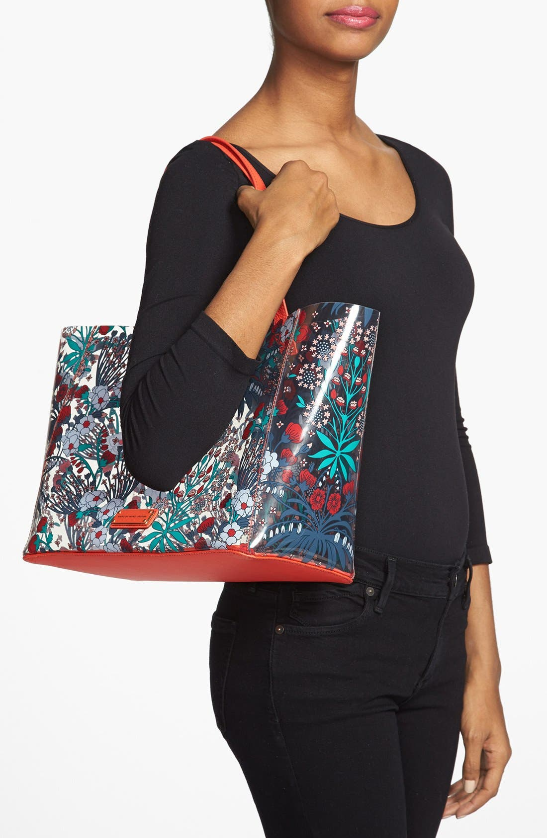 Alternate Image 2  - MARC BY MARC JACOBS Transparent Floral Print Tote