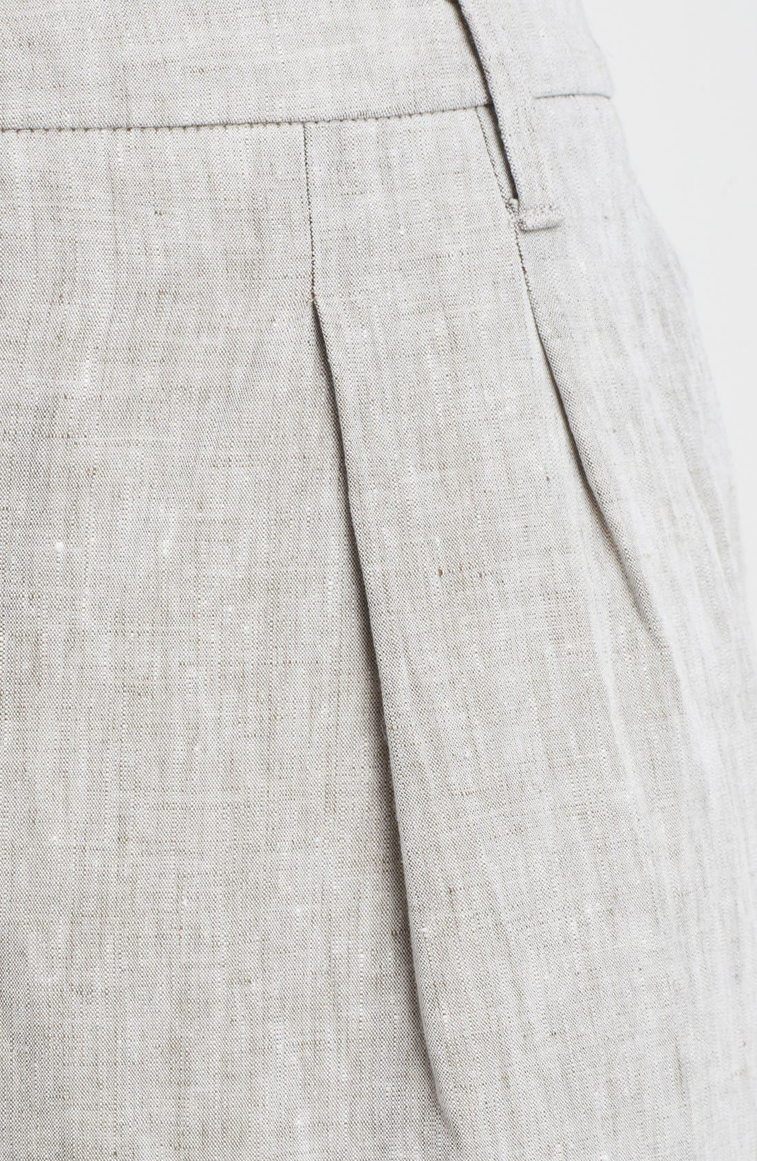 Alternate Image 4  - Armani Collezioni Wide Crop Linen Pants