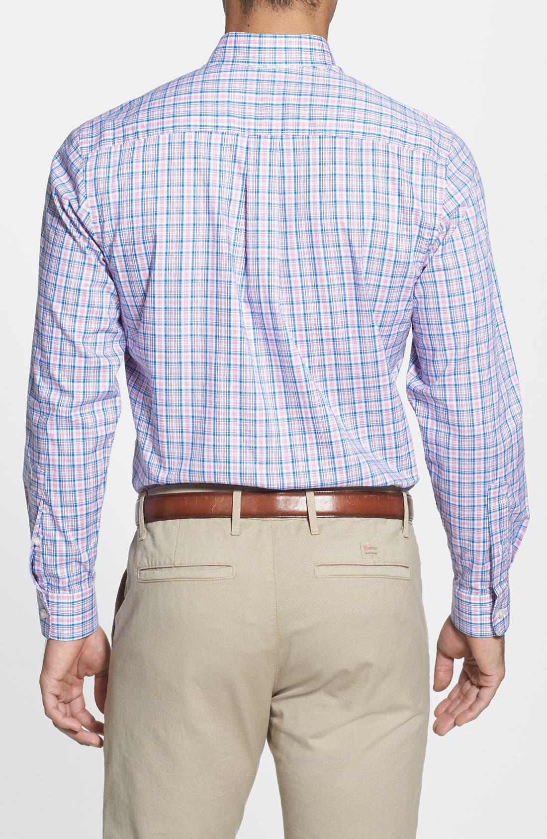 Alternate Image 2  - Vineyard Vines 'Whale - Bayberry' Check Slim Fit Sport Shirt