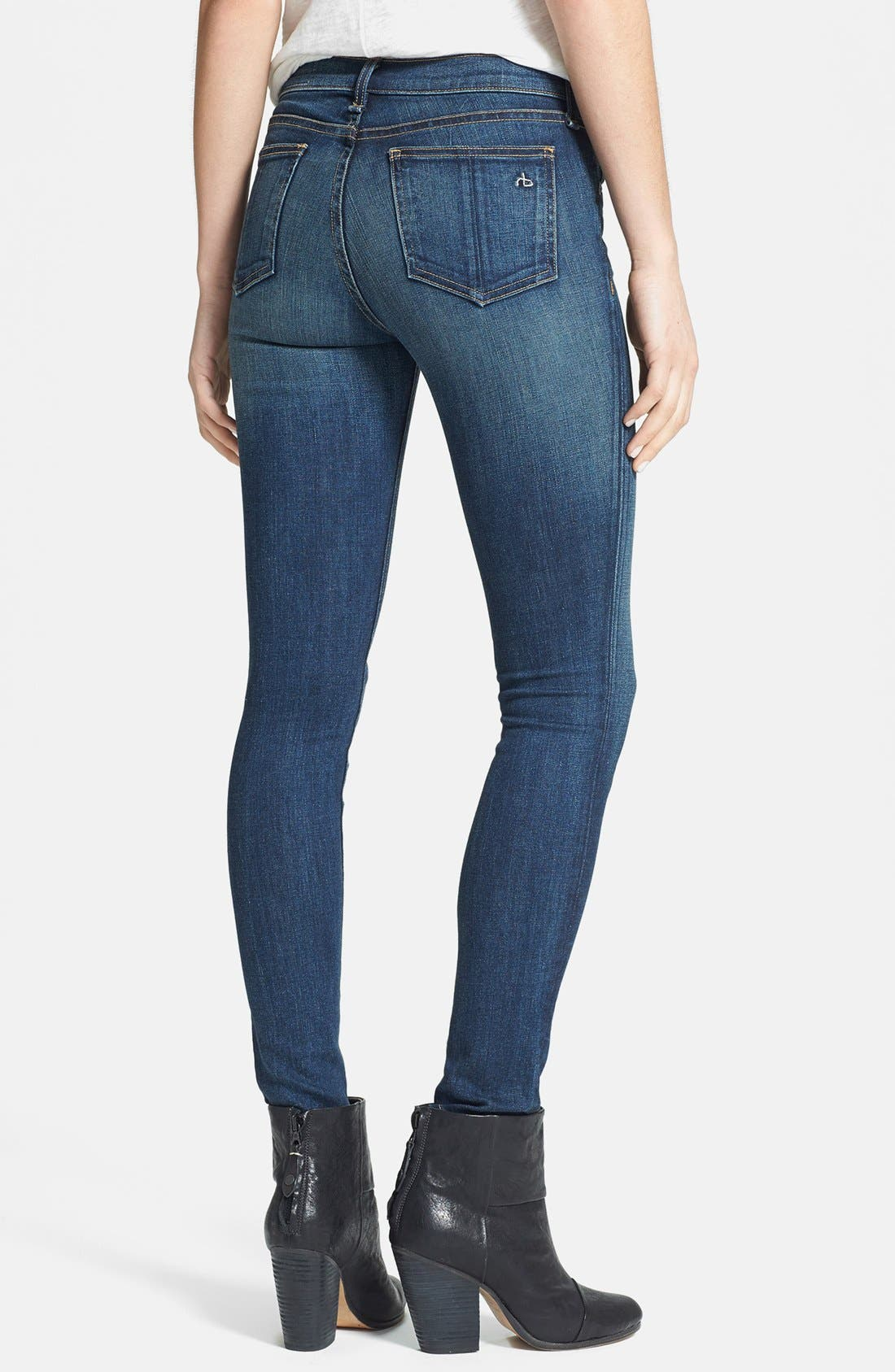 Alternate Image 2  - rag & bone/JEAN Skinny Stretch Jeans (Preston)