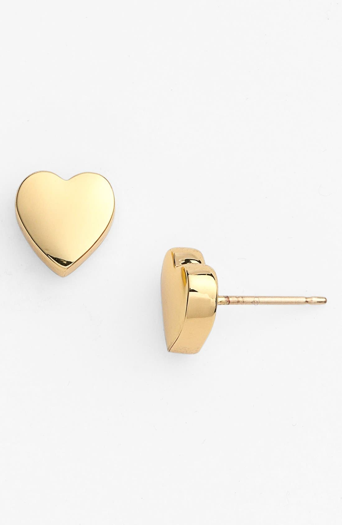 Alternate Image 1 Selected - kate spade new york 'be mine' heart stud earrings
