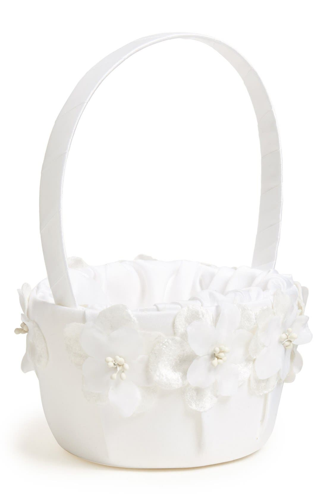 Alternate Image 1 Selected - Andrea's Beau 'Genevieve Blossom' Flower Girl Basket