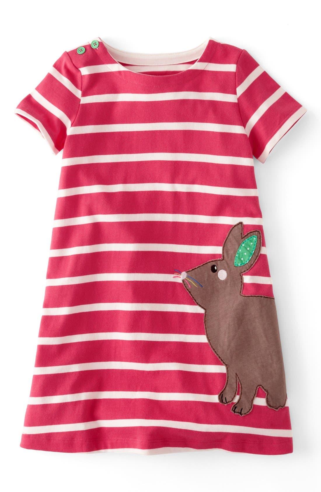 Alternate Image 1 Selected - Mini Boden Appliqué Dress (Toddler Girls, Little Girls & Big Girls)