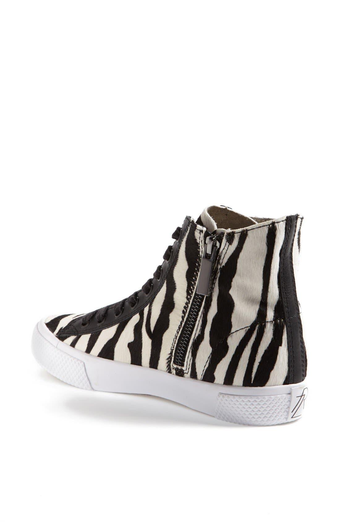 Alternate Image 2  - Rachel Zoe 'Barret' Zebra Print Calf Hair Sneaker (Online Only)
