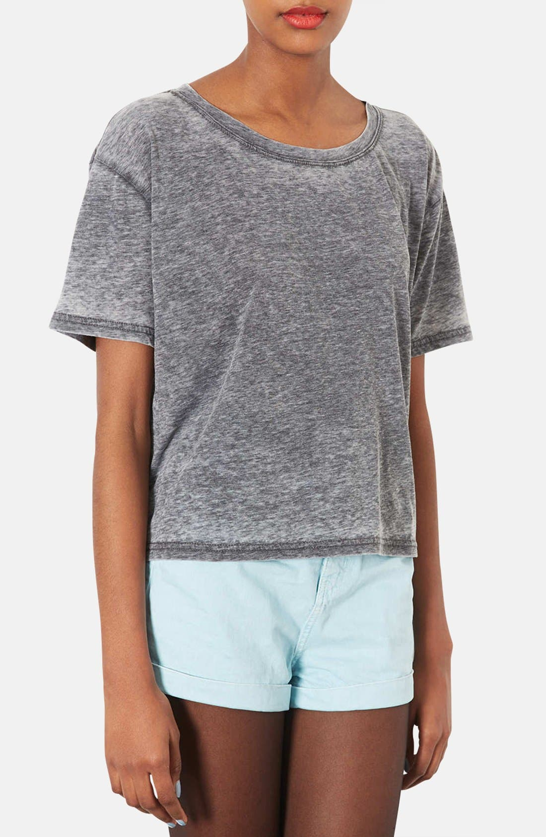 Alternate Image 1 Selected - Topshop Boxy Burnout Tee