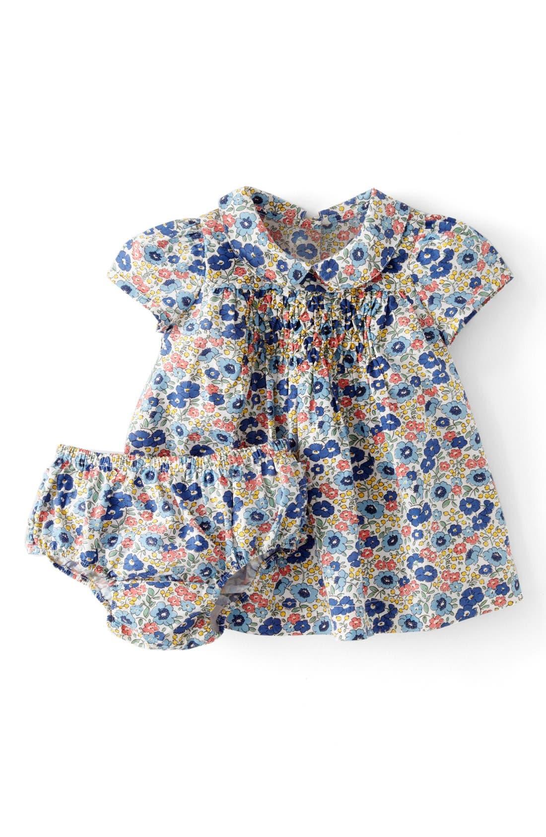 Alternate Image 1 Selected - Mini Boden 'Pretty Printed' Tea Dress (Baby Girls)