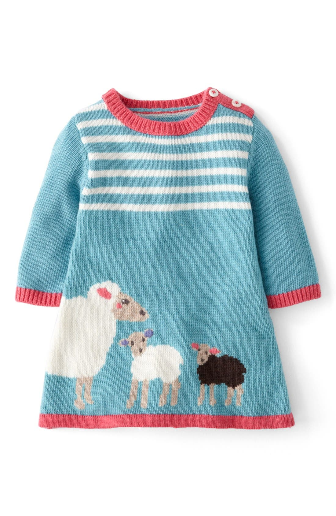 Alternate Image 1 Selected - Mini Boden 'My Baby' Knit Dress (Baby Girls)