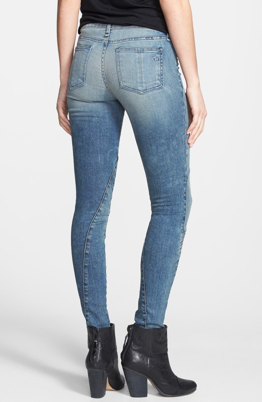 Alternate Image 2  - rag & bone/JEAN 'Samurai Legging' Skinny Jeans (Cardiff)