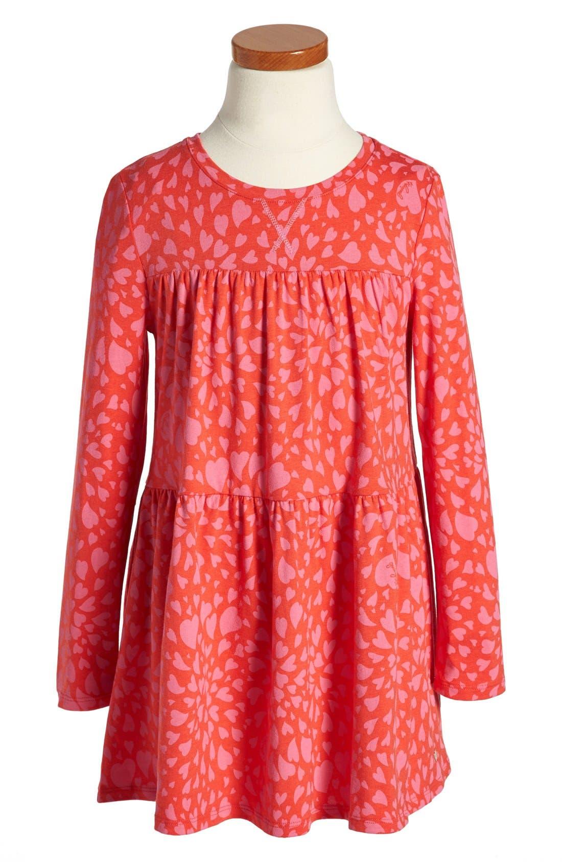 Main Image - Juicy Couture 'Heart Swirl' Knit Dress (Toddler Girls, Little Girls & Big Girls)