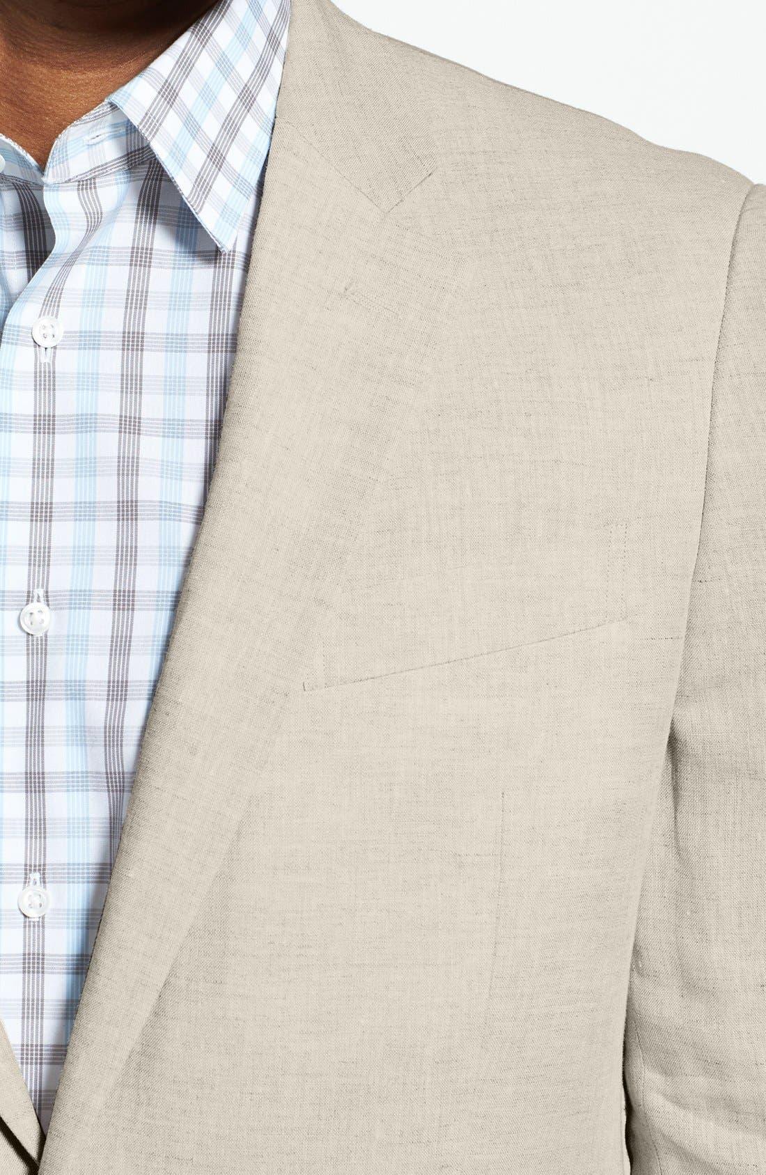 Alternate Image 3  - Nordstrom Men's Shop Trim Fit Linen Blazer