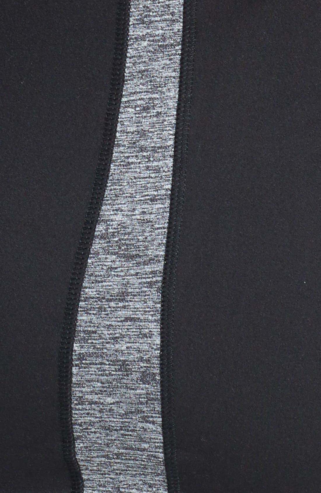 Alternate Image 4  - Hard Tail Contrast Panel Front Zip Hoodie