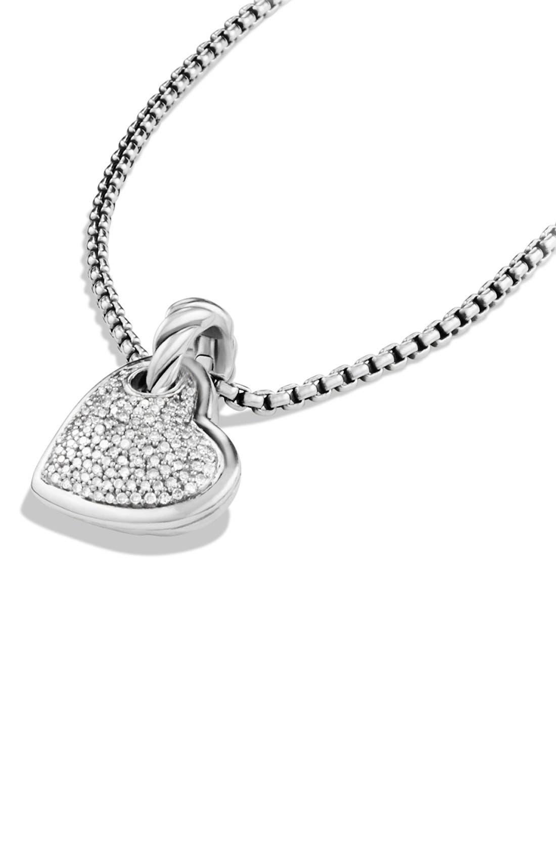 Alternate Image 2  - David Yurman 'Cable Heart' Pendant with Diamonds