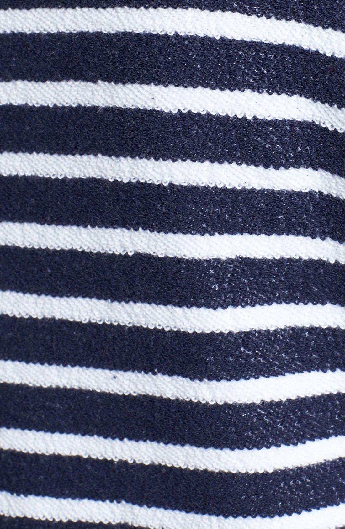Alternate Image 3  - Sejour Nautical Stripe Terry Top (Plus Size)
