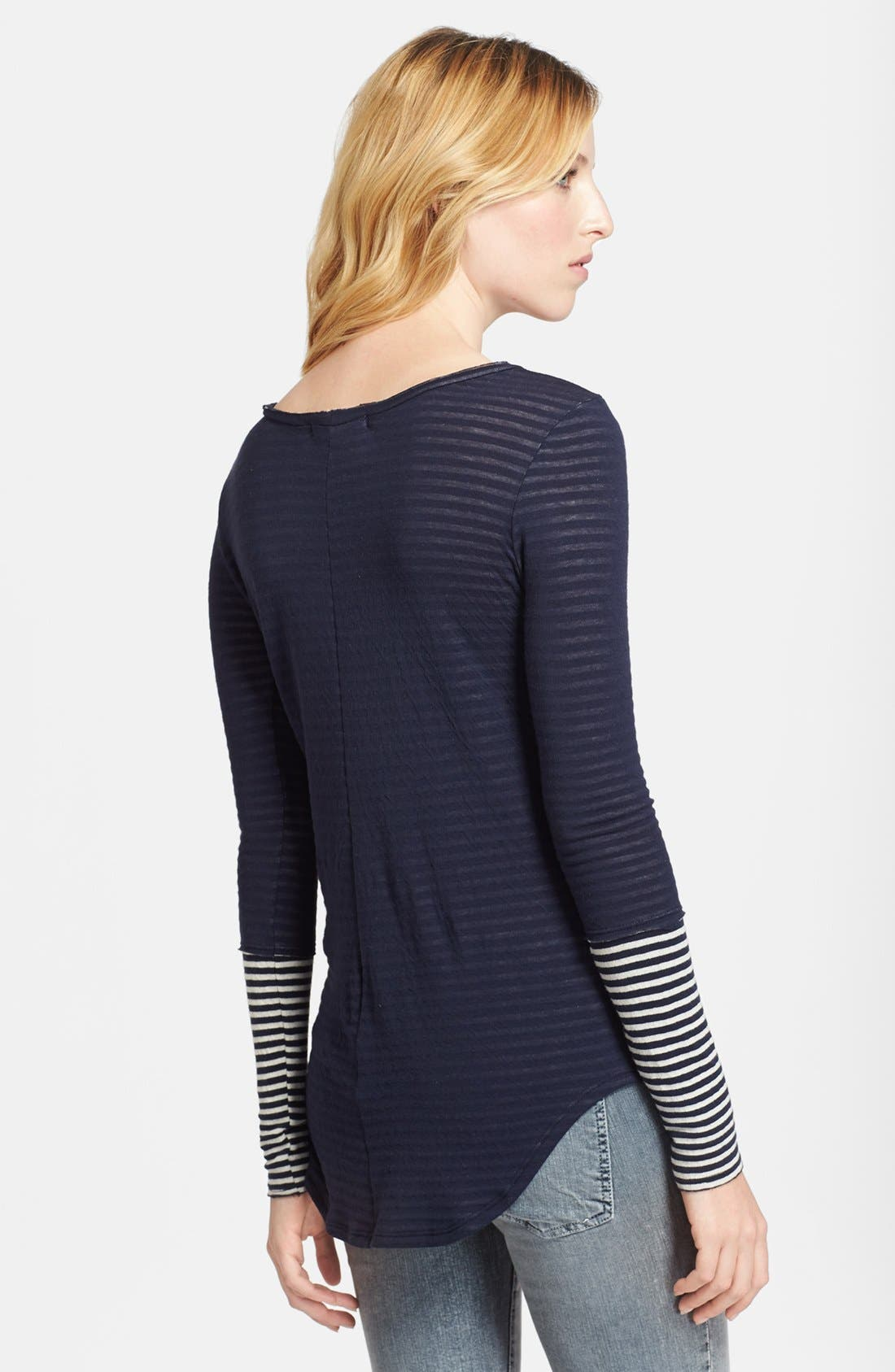 Alternate Image 2  - Whetherly 'Rosewood' Stripe Double Knit Jersey Top