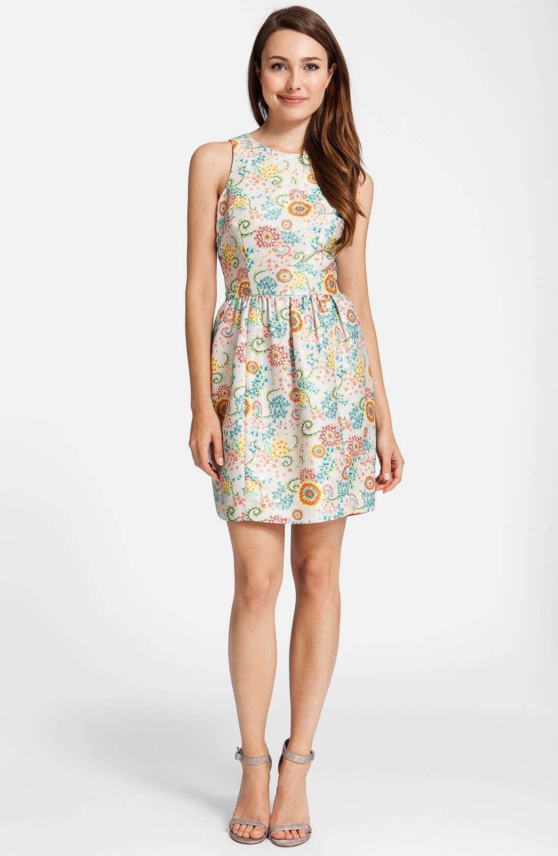 Alternate Image 2  - Cynthia Steffe 'Ashlynn' Print Fit & Flare Dress