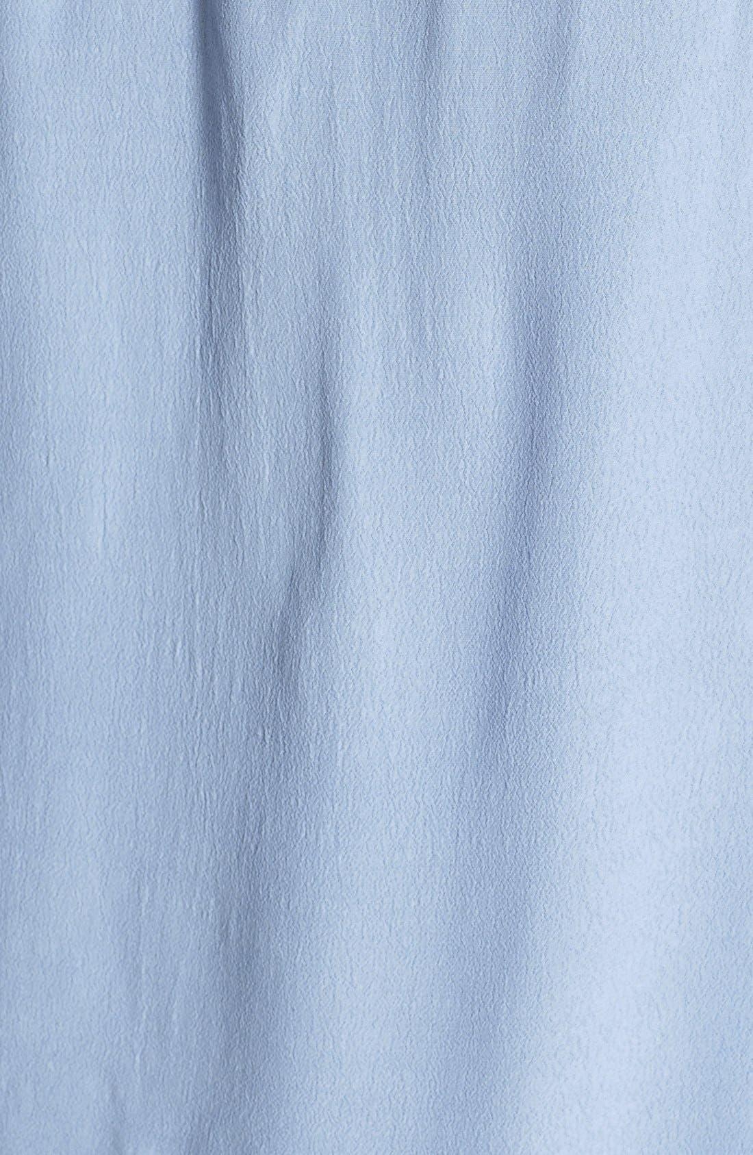 Alternate Image 3  - ASTR Embroidered Inset Silk Blend Tank