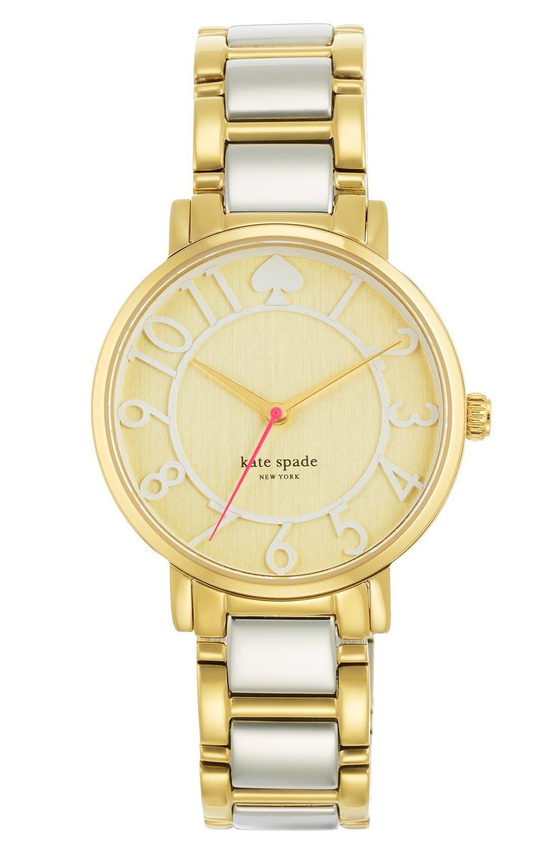 Main Image - kate spade new york 'gramercy' round bracelet watch, 34mm