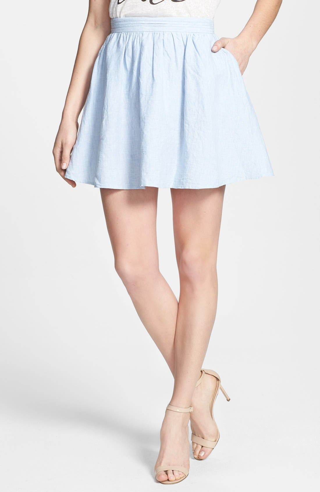 Alternate Image 1 Selected - Joie 'Kaylea' Flare Linen Skirt