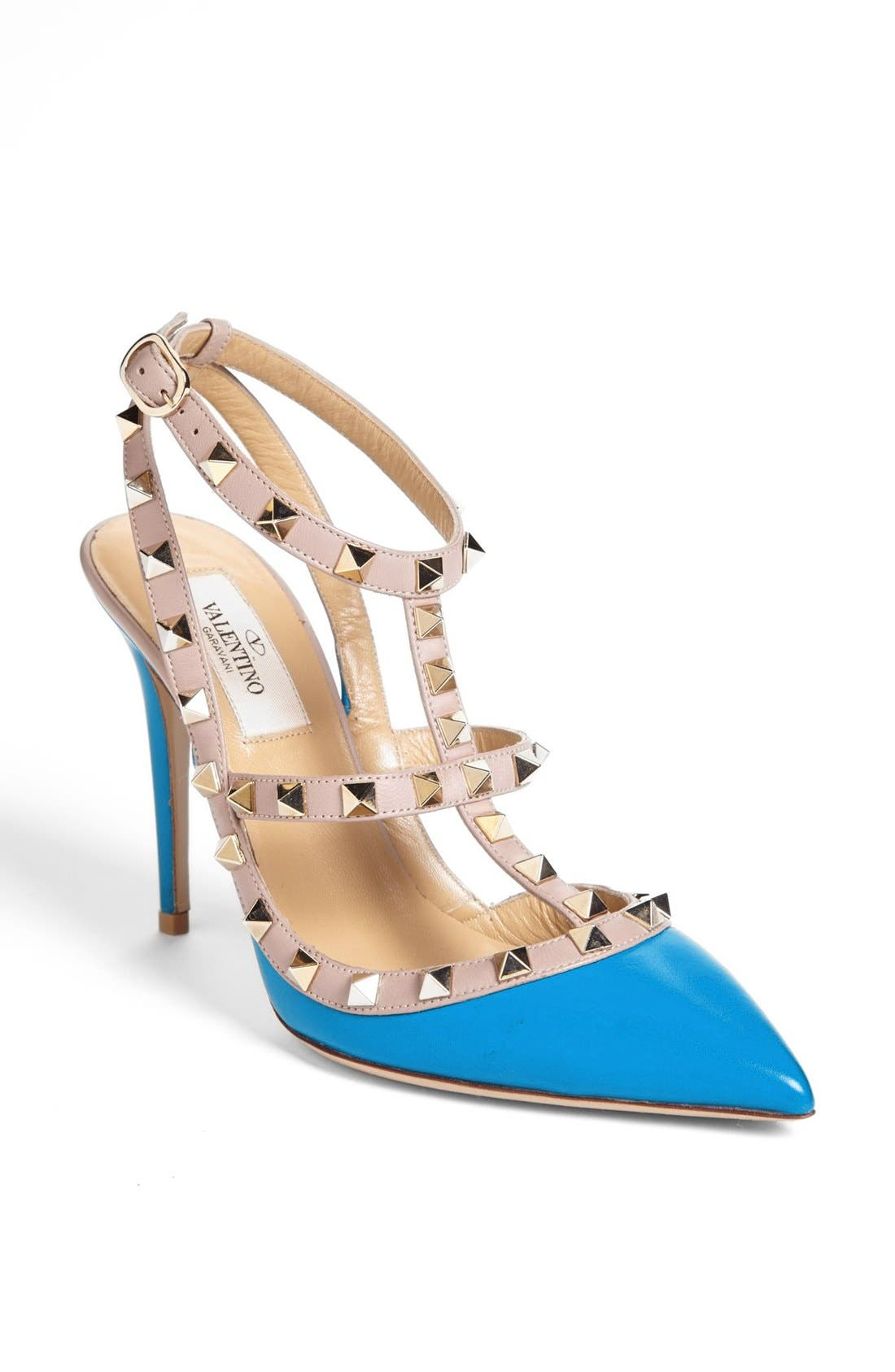 Alternate Image 1 Selected - Valentino 'Rockstud' T-Strap Pump