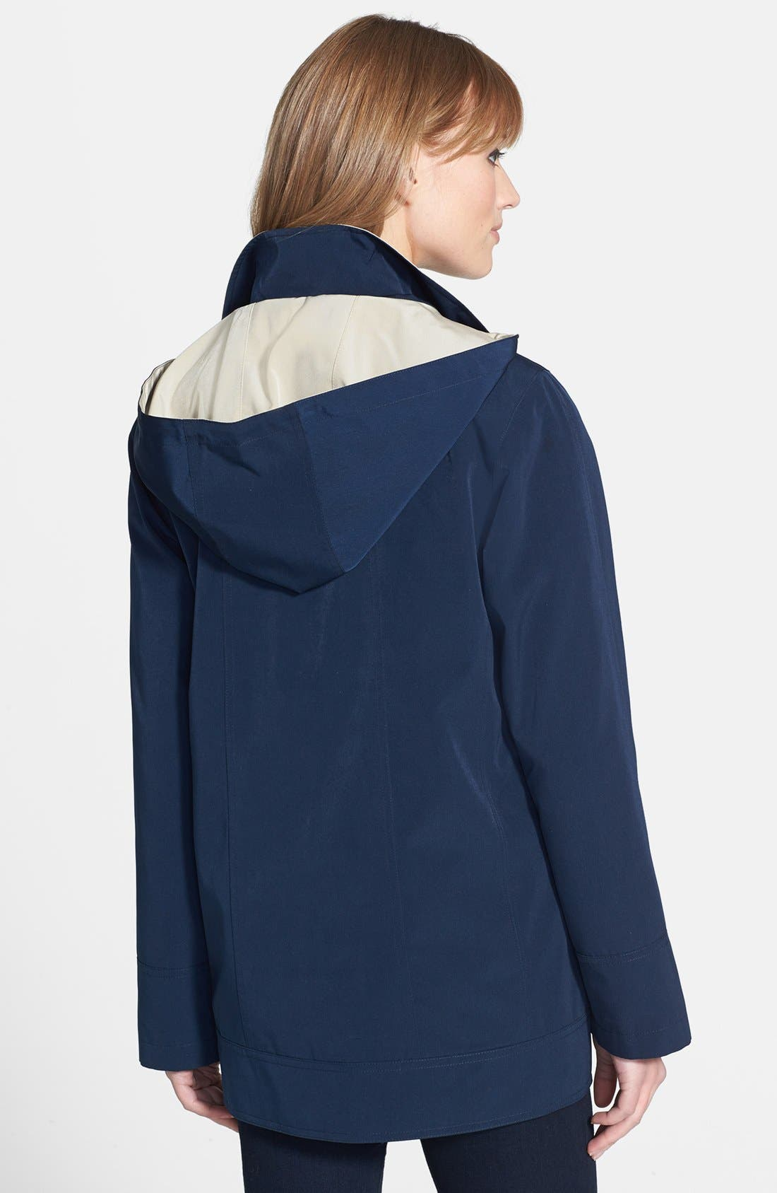 Alternate Image 4  - Gallery Convertible Collar A-Line Coat with Detachable Hood (Regular & Petite) (Online Only)