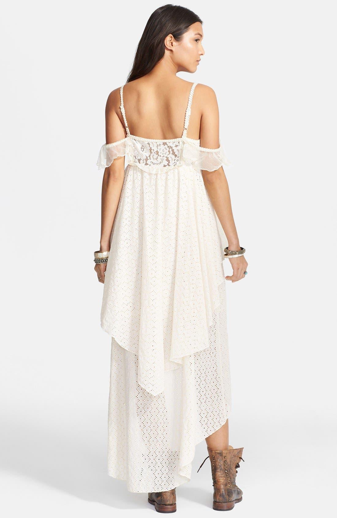 Alternate Image 2  - Free People 'Candle Light' Eyelet Midi Dress