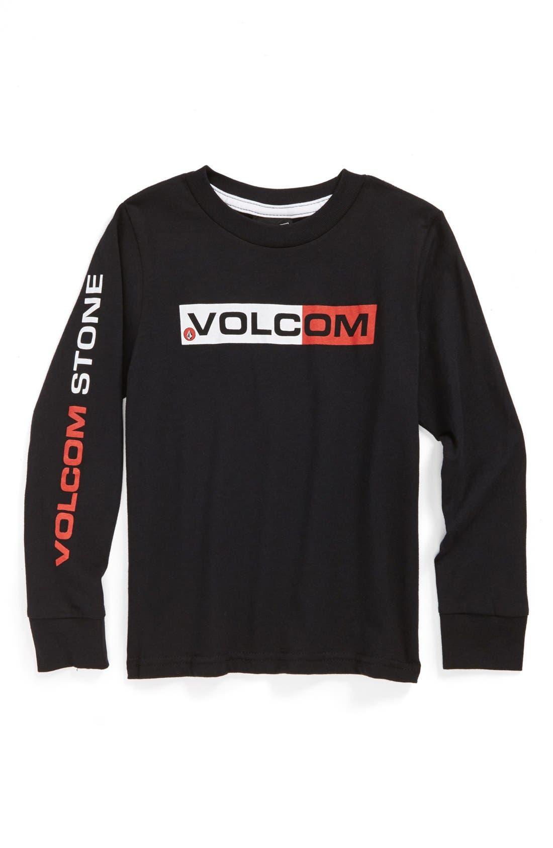 Alternate Image 1 Selected - Volcom 'Euro Styling' Long Sleeve T-Shirt (Big Boys)