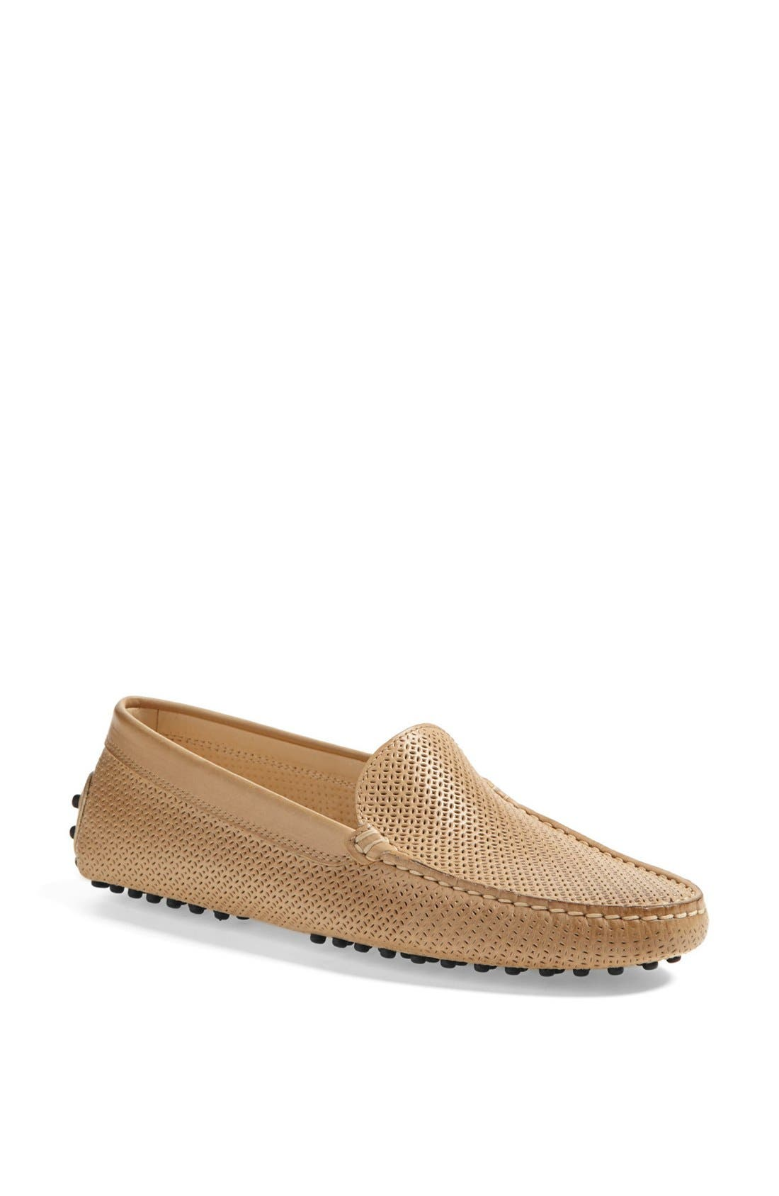 Alternate Image 1 Selected - Tod's 'Gommini' Perforated Leather Driving Moccasin
