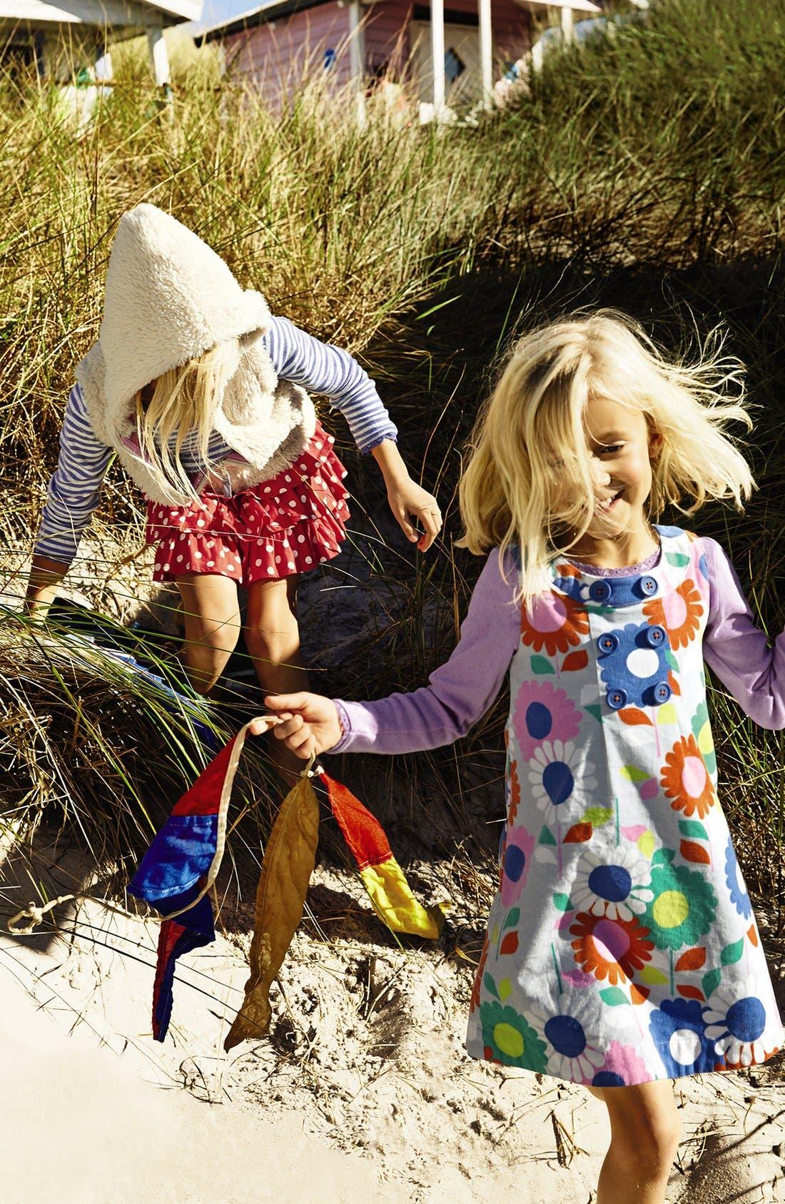 Alternate Image 3  - Mini Boden Button Pinafore Dress (Toddler Girls, Little Girls & Big Girls)
