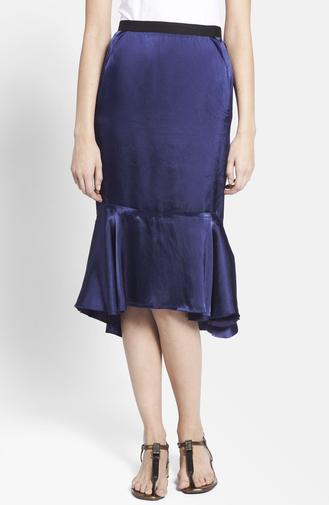 Main Image - Lanvin Ruffled Hem Midi Skirt