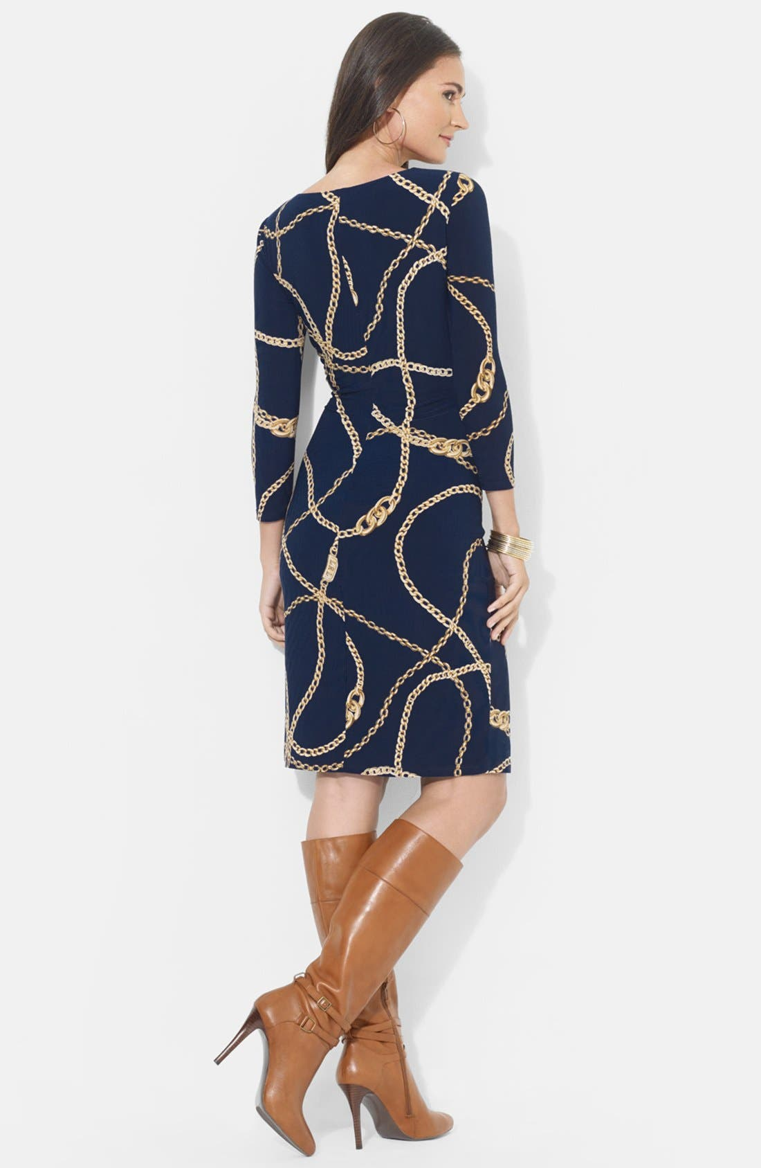 Alternate Image 2  - Lauren Ralph Lauren Chain Print Jersey Dress
