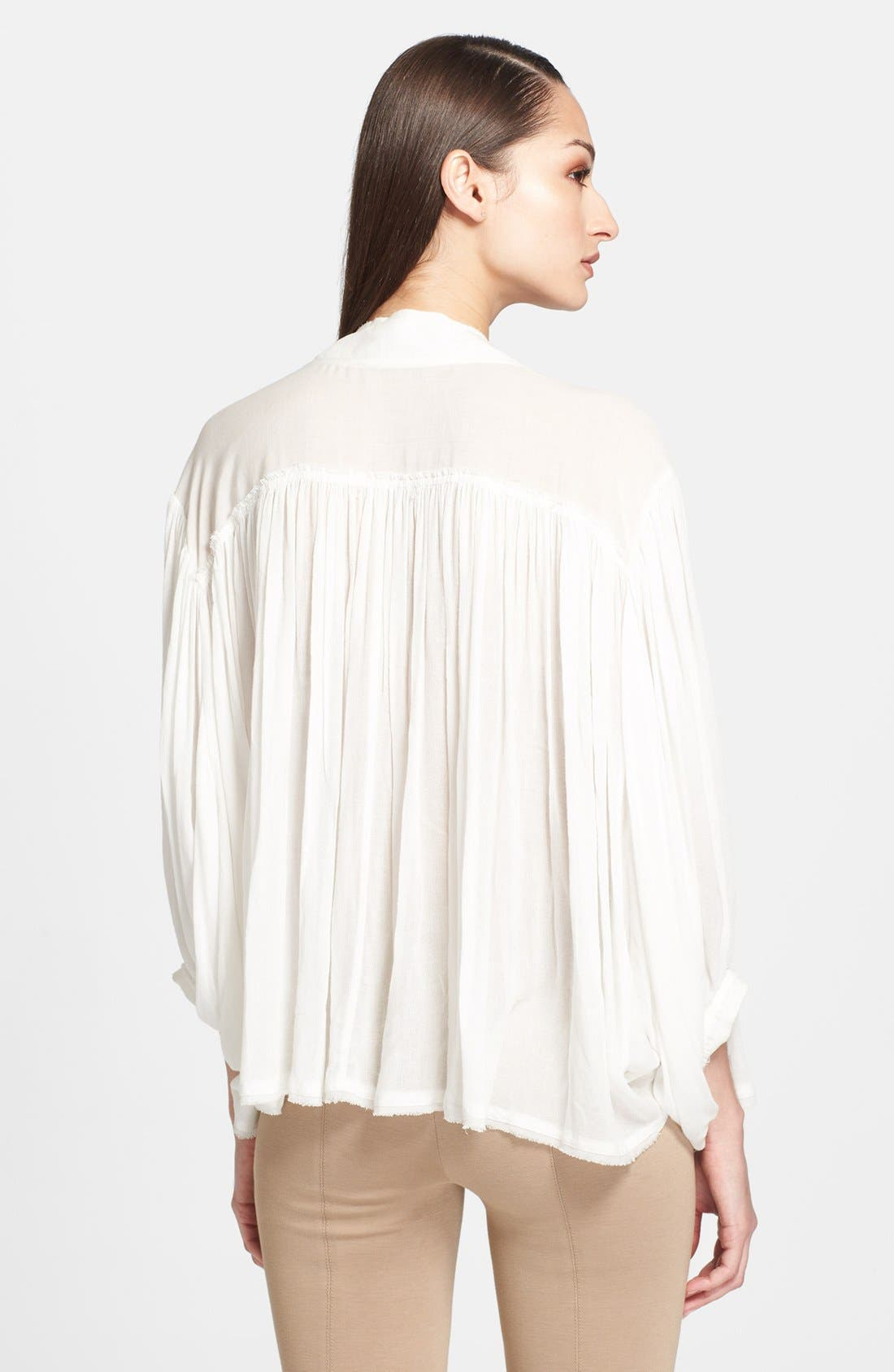 Alternate Image 2  - Donna Karan Collection Crepe Poet Blouse
