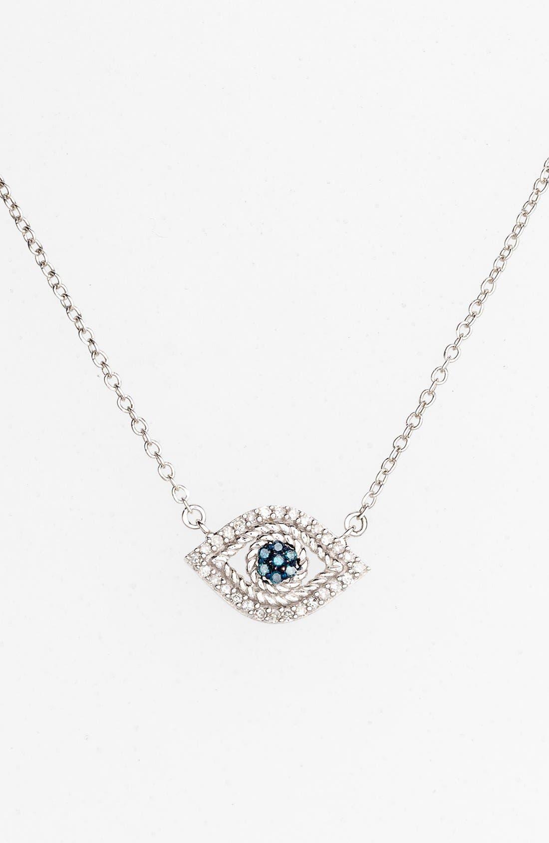 Alternate Image 1 Selected - Adina Reyter 'Evil Eye' Diamond & Sapphire Pendant Necklace