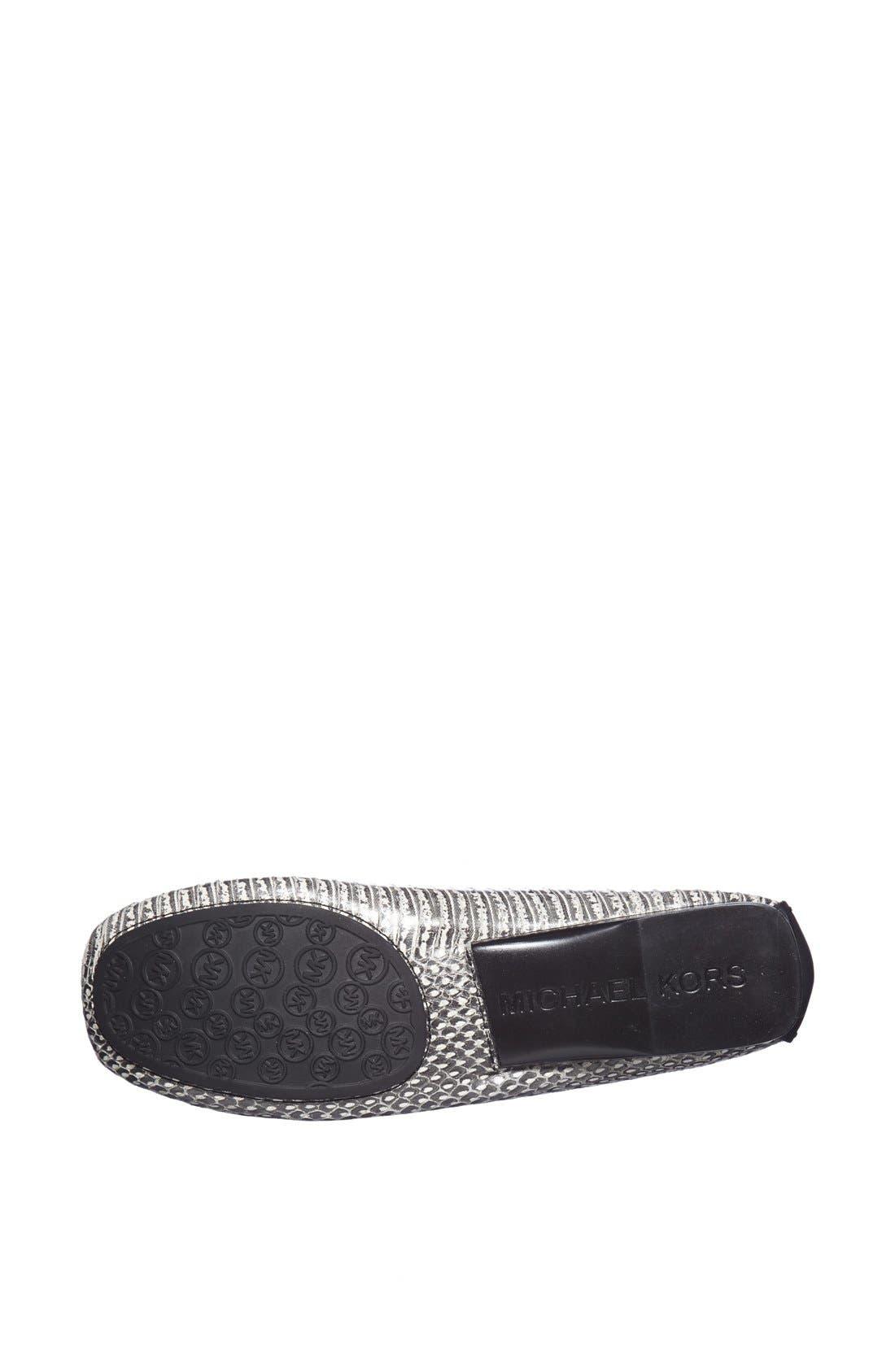 Alternate Image 4  - MICHAEL Michael Kors 'Charm' Snake Embossed Leather Flat