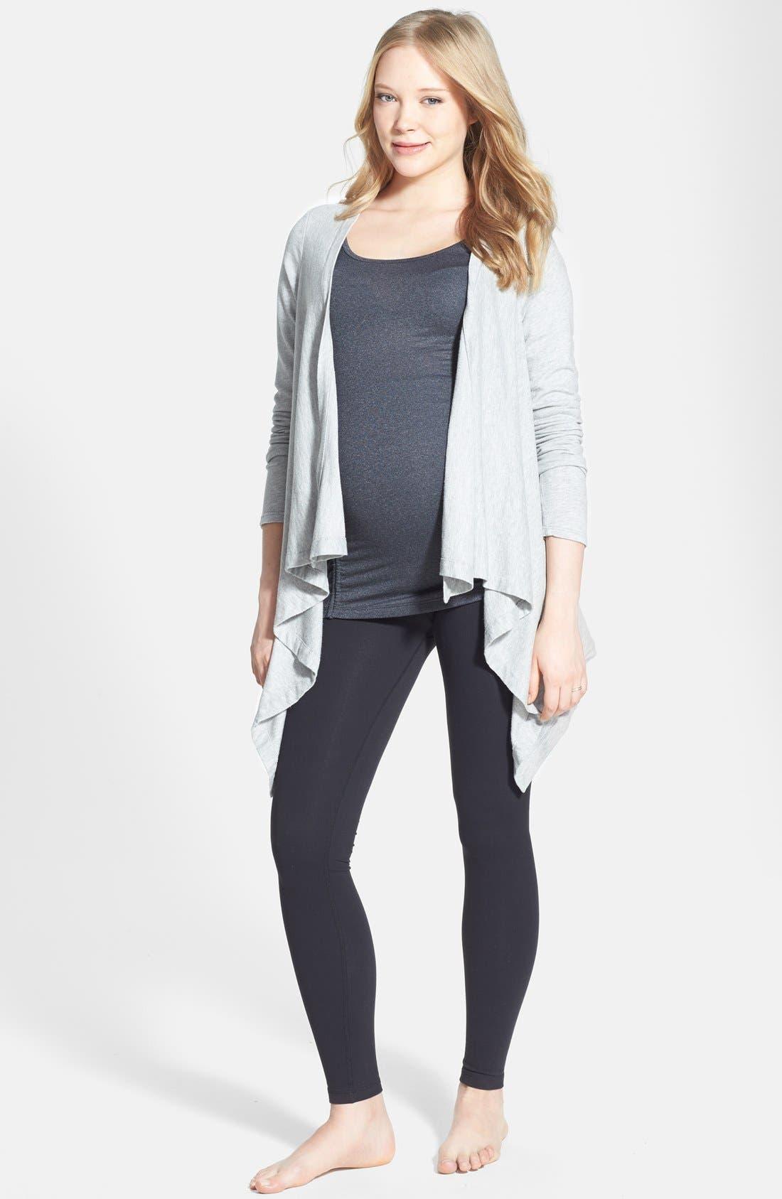 Alternate Image 3  - Beyond Yoga Drape Front Maternity Cardigan