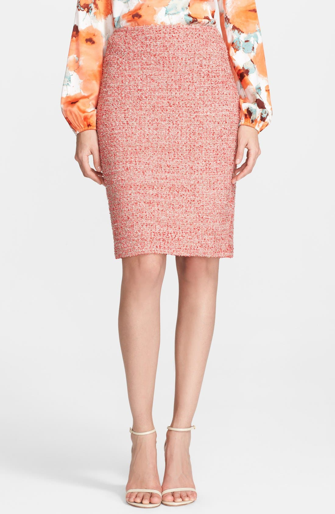 Alternate Image 1 Selected - St. John Collection Eyelash Sparkle Knit Pencil Skirt